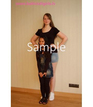Becky vs Melanie - no heels, medium high heels